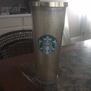 Starbucks gold bling tumbler